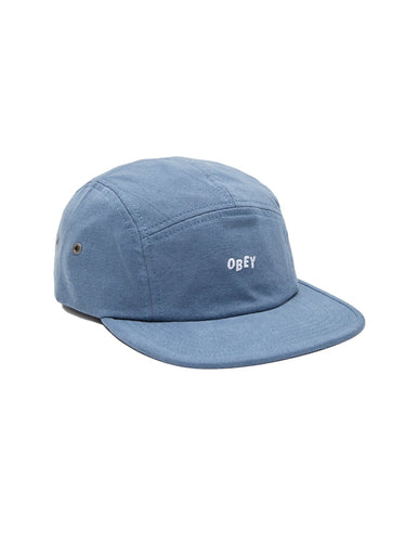 OBEY JUMBLE BAR 5 PANEL HAT // VINTAGE INDIGO
