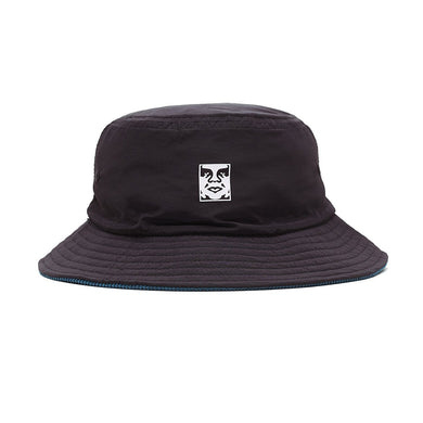 OBEY ICON REVERSIBLE BUCKET HAT // BLACK MULTI