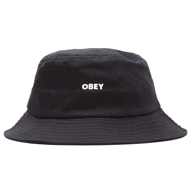 OBEY BOLD BUCKET HAT // BLACK
