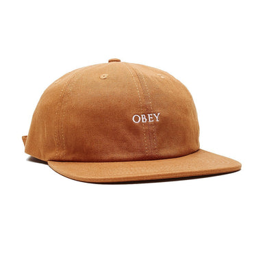 OBEY IDEALS ORGANIC 6 PANEL STRAPBACK // KHAKI