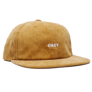 OBEY COLUMN 6 PANEL STRAPBACK HAT // ECRU OLIVE