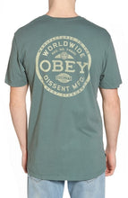 OBEY DISSENT STANDARDS TEE // STEEL GREEN
