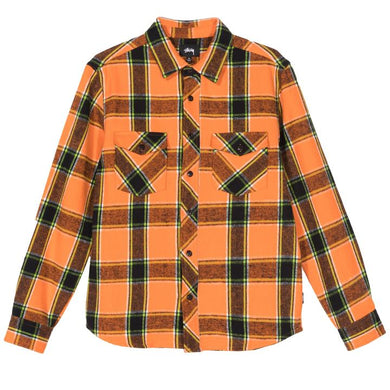 STÜSSY ACE PLAID L/S SHIRT // ORANGE
