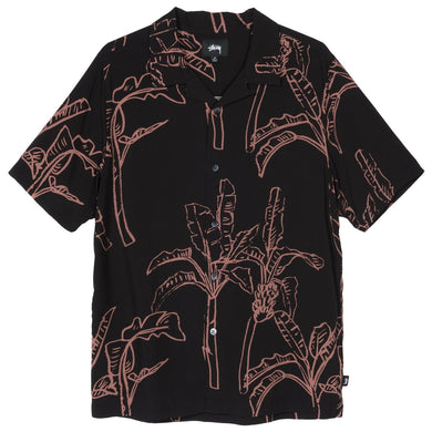 STÜSSY BANANA TREE SHIRT // BLACK