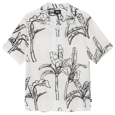 STÜSSY BANANA TREE SHIRT // OFF WHITE