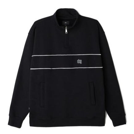 OBEY JOHNNY MOCK NECK ZIP // BLACK
