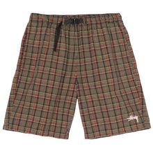 STÜSSY PLAID MOUNTAIN SHORT // BLACK