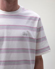 STÜSSY HARBOUR STRIPE CREW // NATURAL