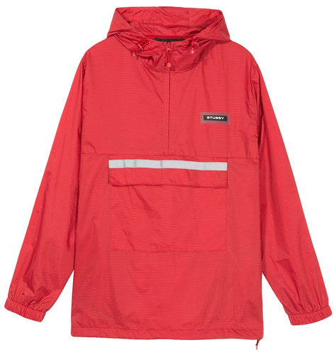 STÜSSY CONTRAST RIPSTOP ANORAK // RED