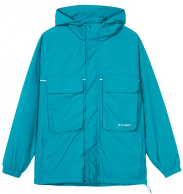 STÜSSY BIG POCKET SHELL JACKET // TEAL