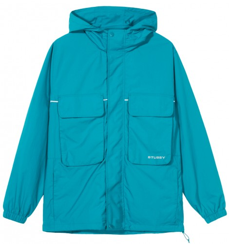 STUSSY BIG POCKET SHELL JACKET // TEAL