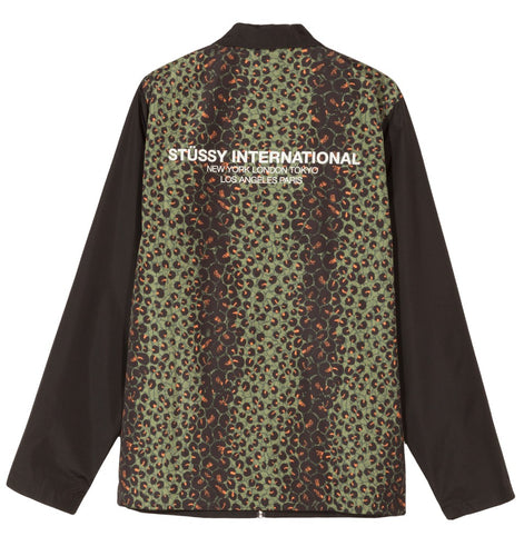 STÜSSY LEOPARD PANEL JACKET // BLACK