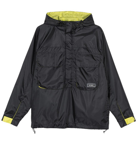 STÜSSY DRIFT PULLOVER JACKET // BLACK