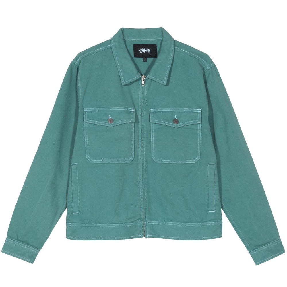 STÜSSY OVERDYED GARAGE JACKET // MINT