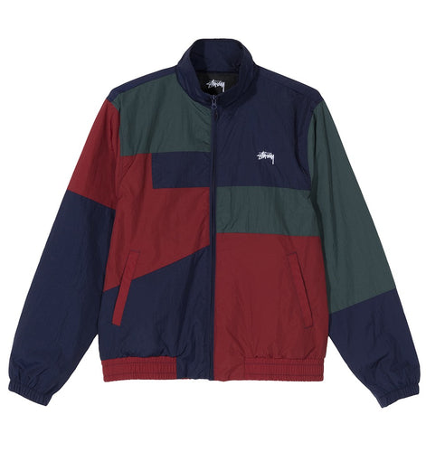 STÜSSY PANEL TRACK JACKET // NAVY