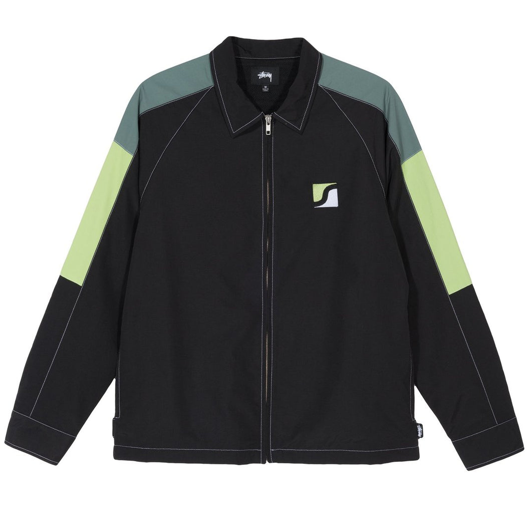 STÜSSY PANEL ZIP JACKET // BLACK