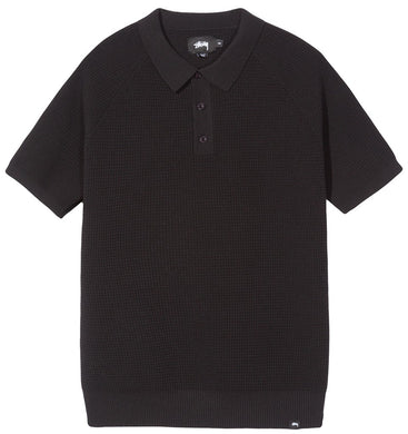 STÜSSY KINGSTON POLO SWEATER // BLACK