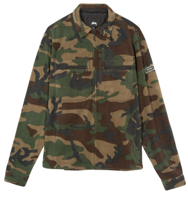 STÜSSY POLAR FLEECE FULL ZIP // CAMO