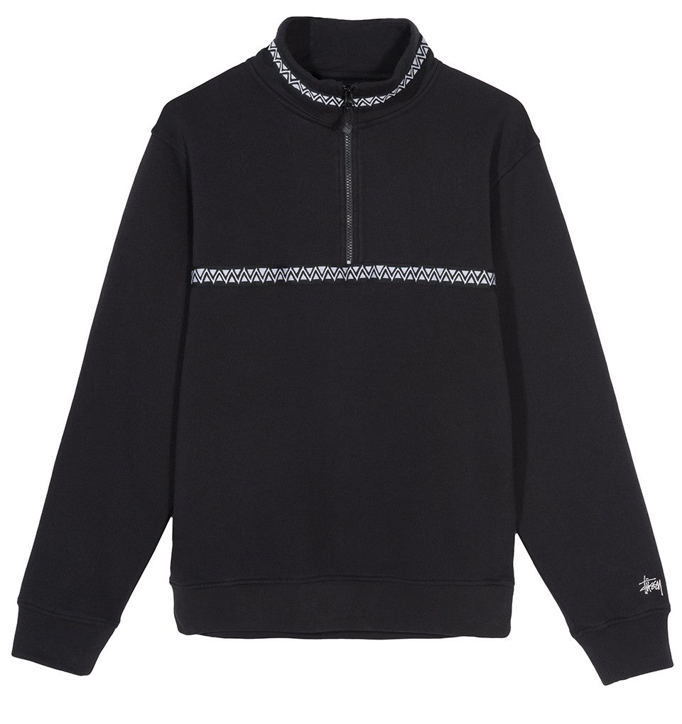 STÜSSY WOVEN TAPE MOCK NECK // BLACK