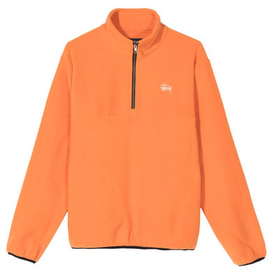 STÜSSY BASIC POLAR FLEECE MOCK // ORANGE