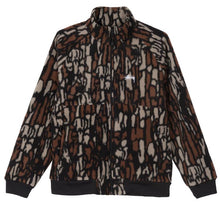 STÜSSY TREE BARK FLEECE JACKET // BROWN