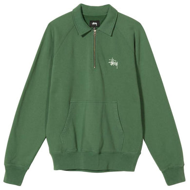 STÜSSY POLO ZIP FLEECE // GREEN