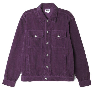 OBEY THEO SHIRT JACKET // BLACKBERRY WINE