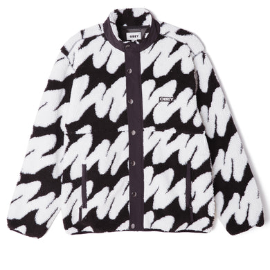 OBEY HENSE SHERPA JACKET // BLACK MULTI