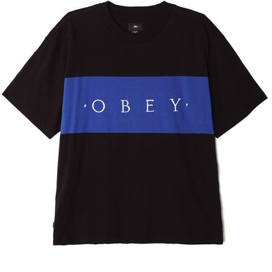 OBEY BUDDY TEE SS // BLACK MULTI