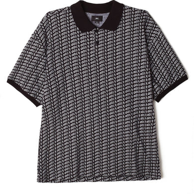 OBEY CUTTER POLO S/S // BLACK MULTI