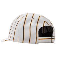 STÜSSY BIG LOGO STRIPED LOW PRO CAP // OFF WHITE