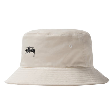 STÜSSY STOCK BUCKET HAT // NATURAL