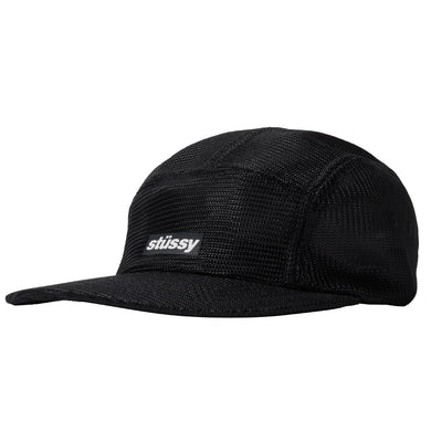 STÜSSY 4 PANEL RUNNER CAMP CAP // BLACK