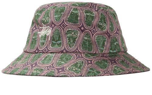 STÜSSY MASK PATTERN BUCKET HAT // PINK