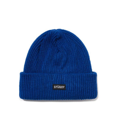STÜSSY SMALL PATCH WATCH CAP BEANIE // BLUE