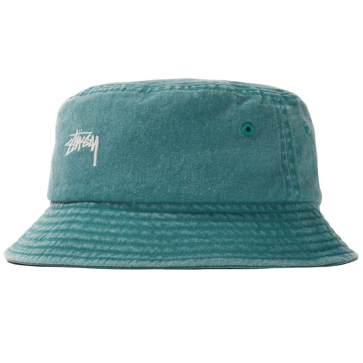 STÜSSY STOCK WASHED BUCKET HAT // GREEN