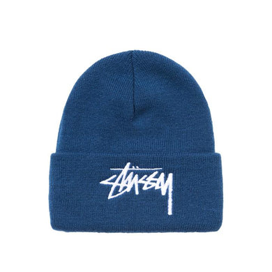 STÜSSY BIG STOCK CUFF BEANIE // BLUE