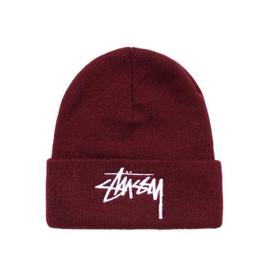 STÜSSY BIG STOCK CUFF BEANIE // BURGUNDY