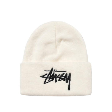STÜSSY BIG STOCK CUFF BEANIE // OFF WHITE