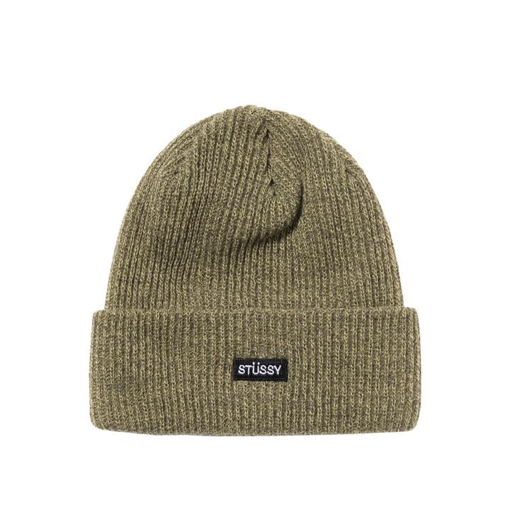 STÜSSY SMALL PATCH WATCHCAP BEANIE // OLIVE