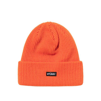 STÜSSY SMALL PATCH WATCHCAP BEANIE // ORANGE