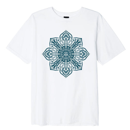 OBEY Gun Mandala Basic T-Shirt // White
