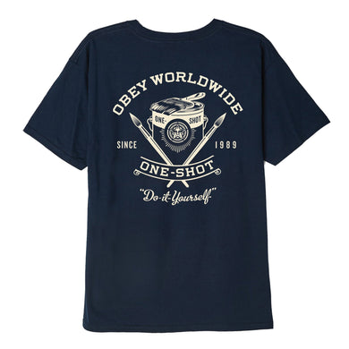 OBEY ONE - SHOT TEE // NAVY