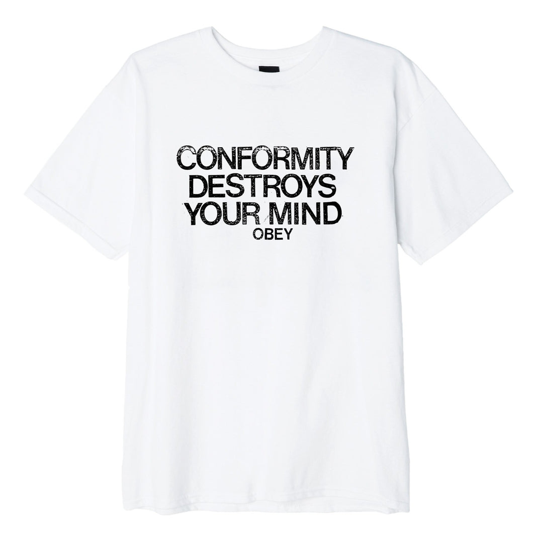 OBEY CONFORMITY DESTROYS TEE // WHITE