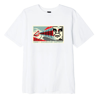 OBEY YOUR AD IS HERE TEE // WHITE