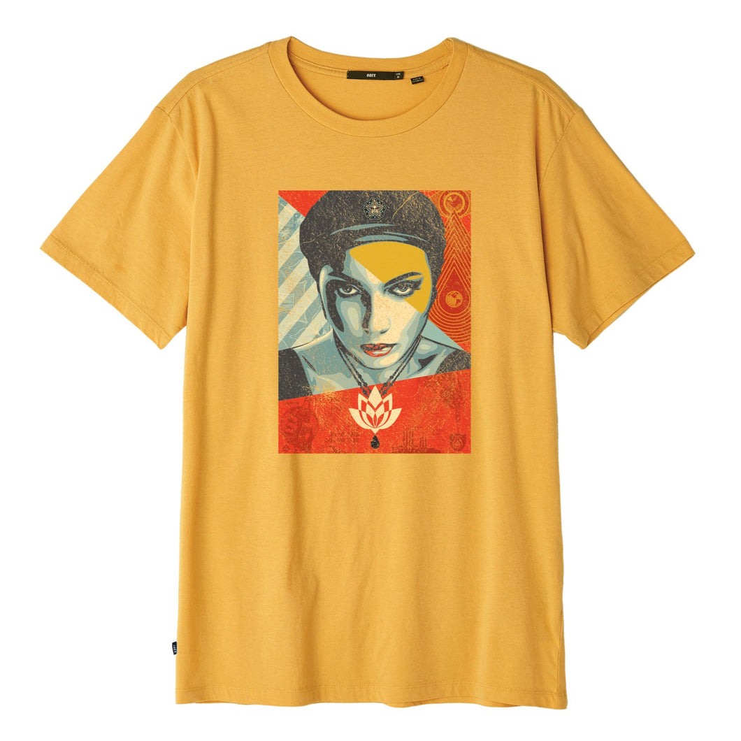 OBEY OIL LOTUS WOMAN TEE // BAKED YELLOW