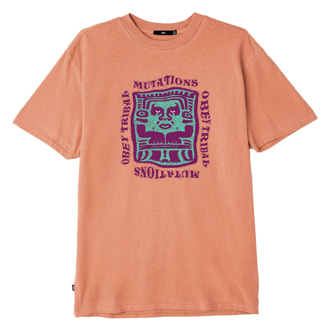 OBEY MUTATIONS TEE // DUSTY RAW TERRACOTTA