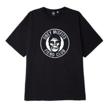 OBEY X MISFITS FIEND CLUB HEAVY WEIGHT CLASSIC BOX TEE // BLACK