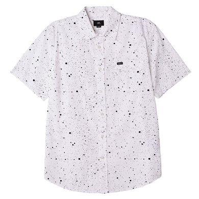 OBEY HANOVER WOVEN SHIRT // WHITE MULTI