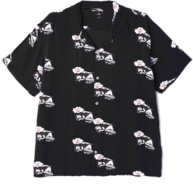 OBEY PEACE ANGEL WOVEN SHIRT // BLACK MULTI